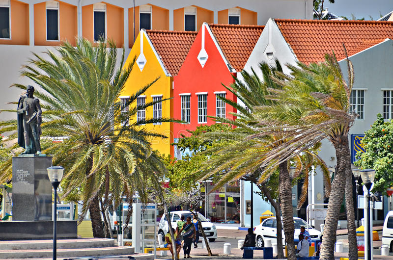 Chambres dans Willemstad, Curaçao images stock