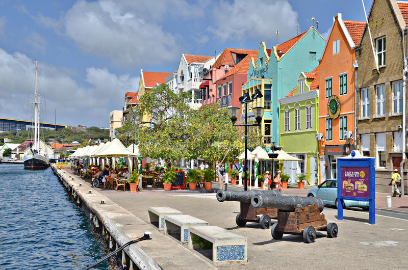Chambres dans Willemstad, Curaçao photo stock