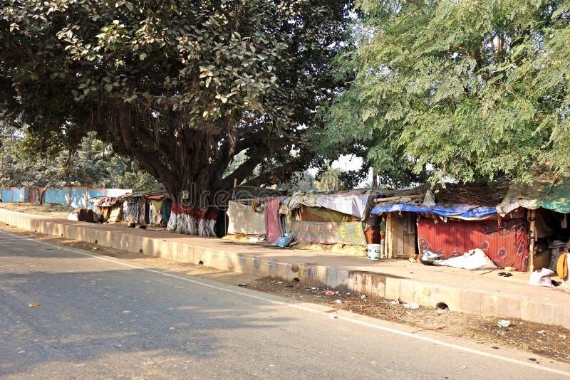 Chambres de bâche dans l'Inde du nord photo libre de droits