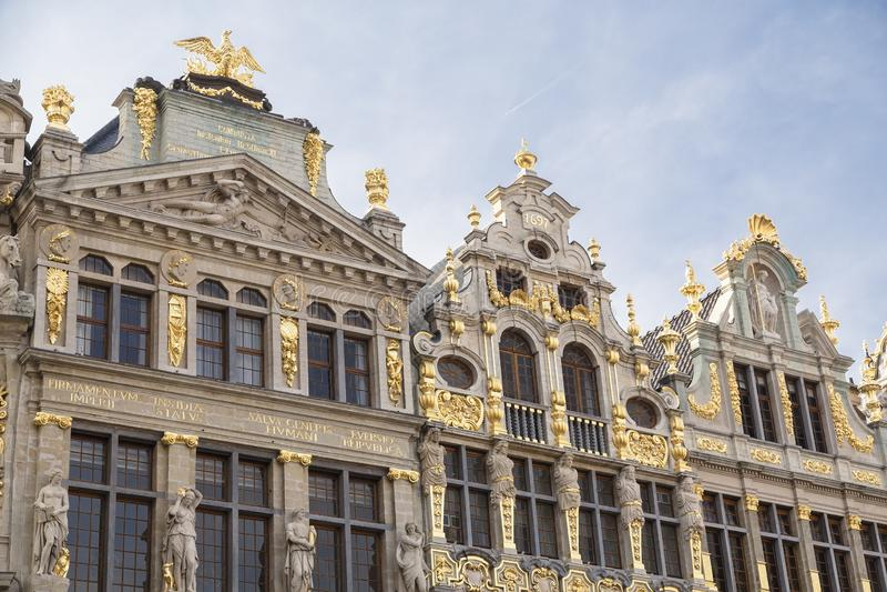 Chambres de guilde chez Grand Place image stock