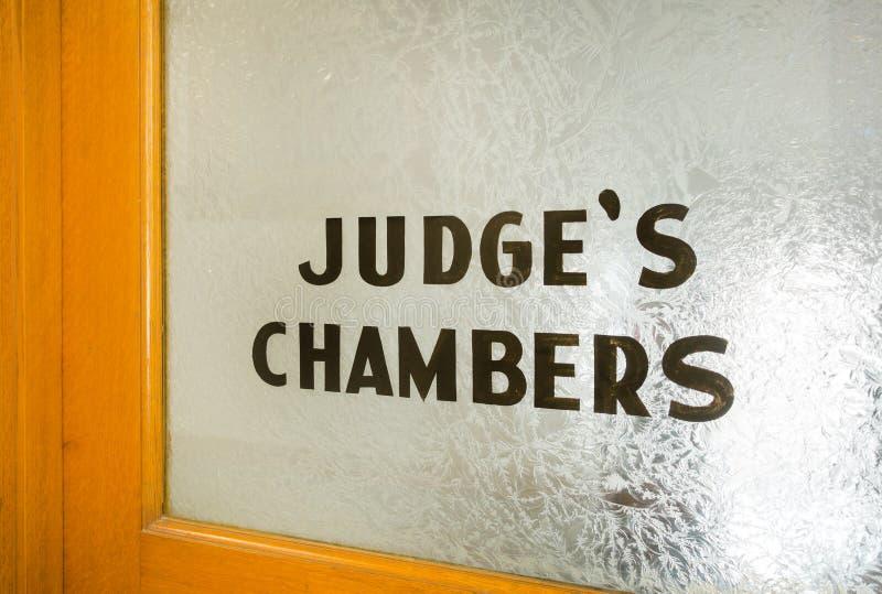 Chambres de juges image libre de droits