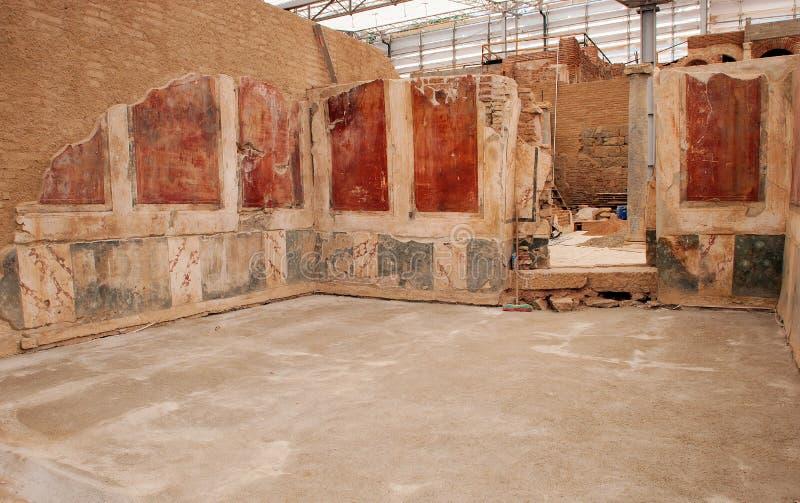 Chambres de terrasse d'Ephesus photos stock