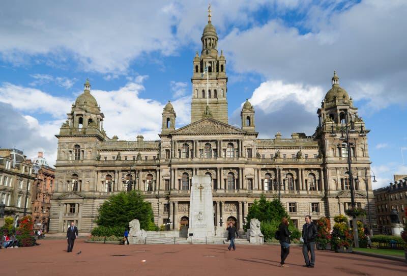 Chambres de ville de Glasgow photographie stock libre de droits