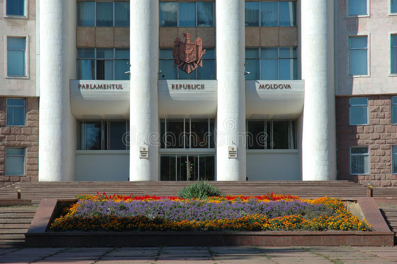 Chambres du Parlement à Chisinau, Moldau images stock