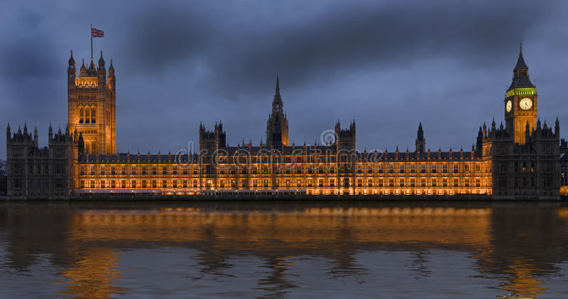 Chambres du Parlement à Londres Angleterre photo stock