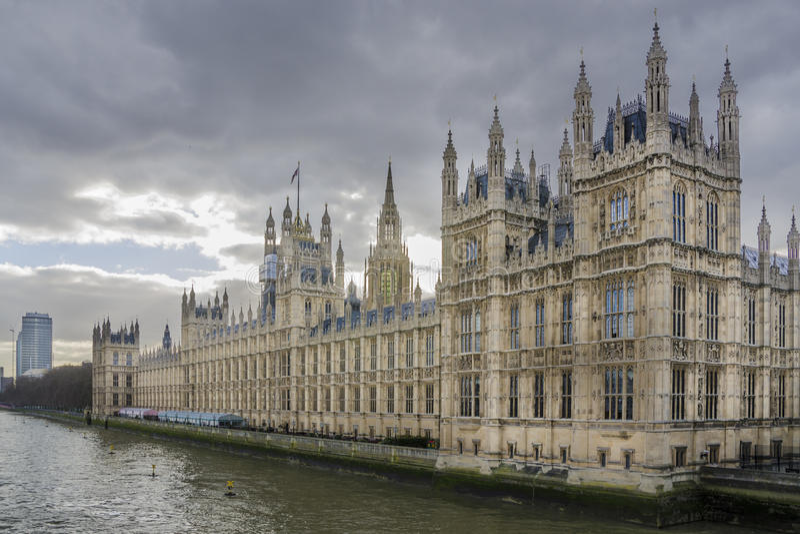 Chambres du Parlement, Londres photo stock