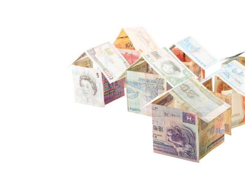 Chambres faites à partir des devises I photo libre de droits