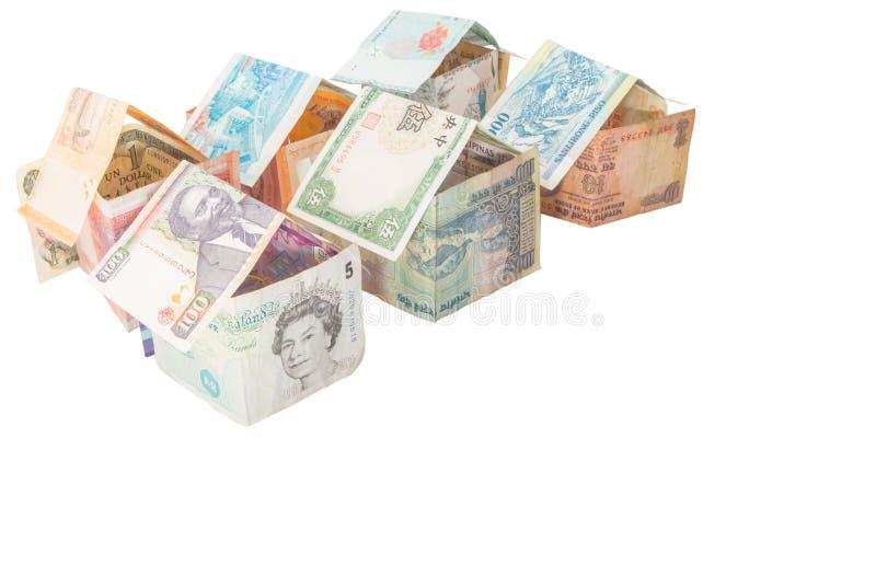 Chambres faites à partir des devises III photo stock
