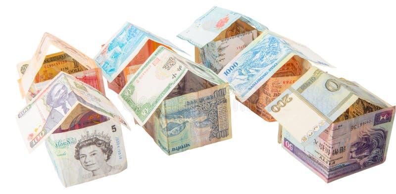 Chambres faites à partir des devises VI image stock
