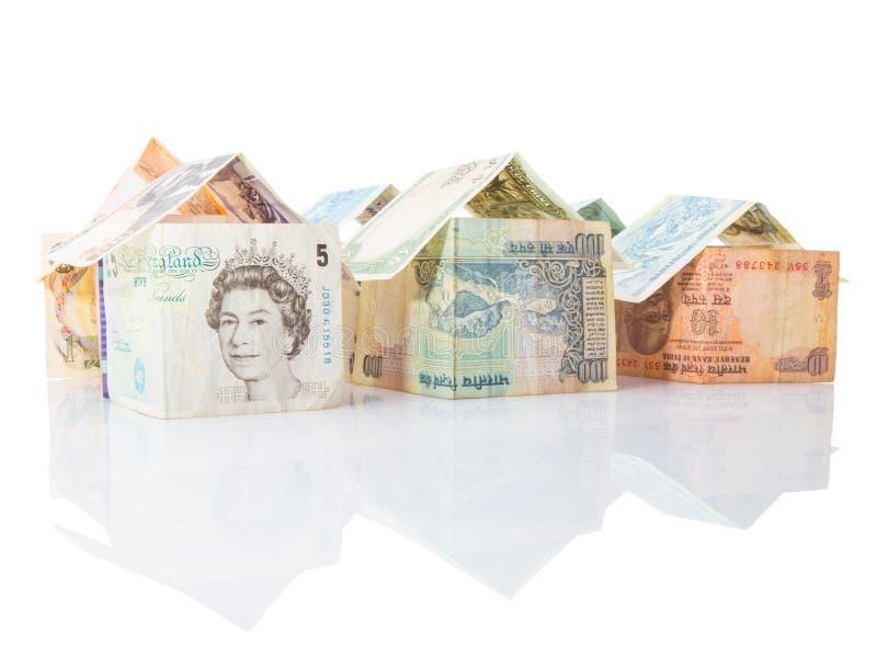 Chambres faites à partir des devises VII photo stock