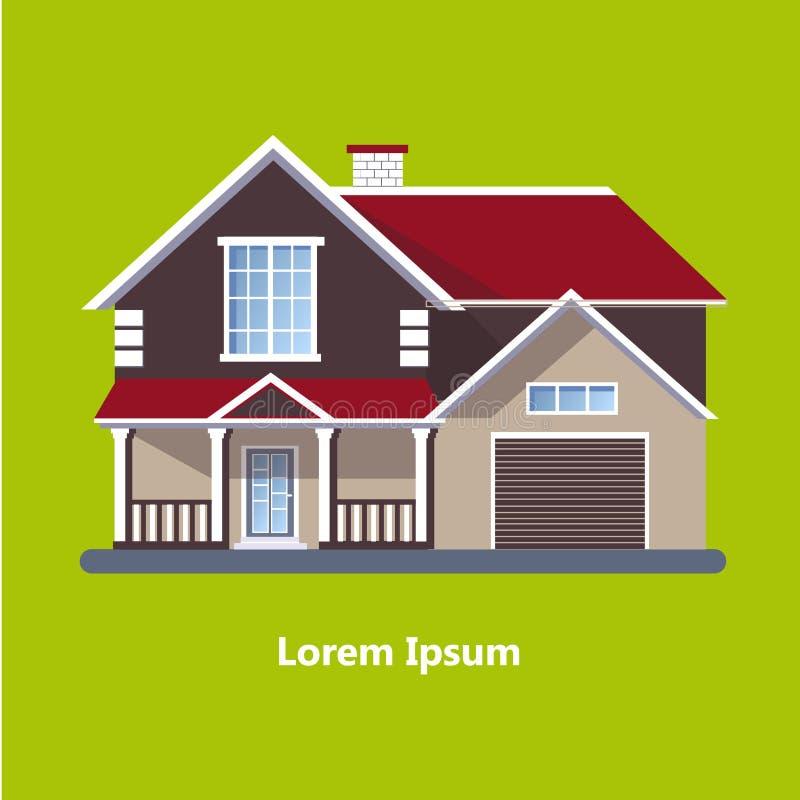 Chambres résidentielles plates colorées illustration libre de droits