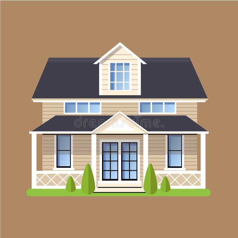 Chambres résidentielles plates colorées illustration de vecteur