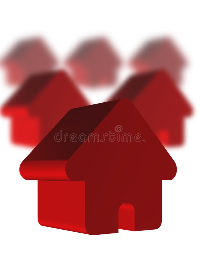 Chambres rouges illustration stock