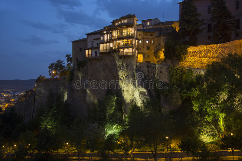 Chambres s'arrêtantes - Cuenca - Espagne photo libre de droits