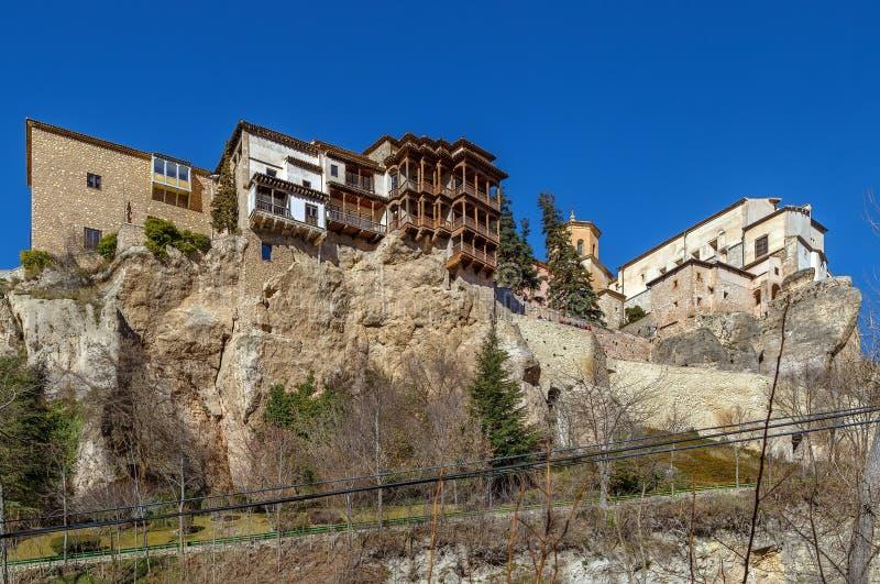 Chambres s'arrêtantes, Cuenca, Espagne photographie stock
