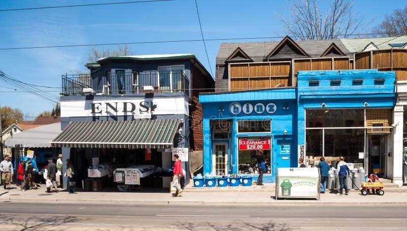 Chambres sur la rue de la Reine est, Toronto image stock