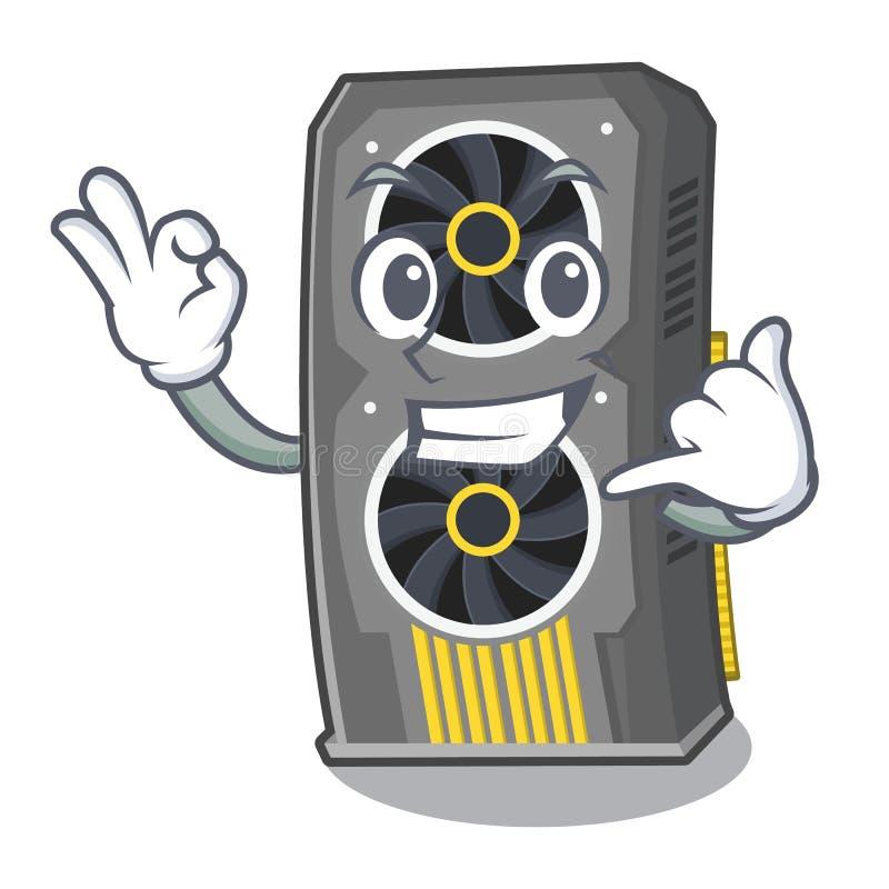 Chame-me a placa gr?fica video acima da cadeira dos desenhos animados ilustração stock