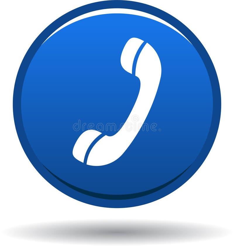 Chame-nos azul do ícone da Web do botão ilustração do vetor