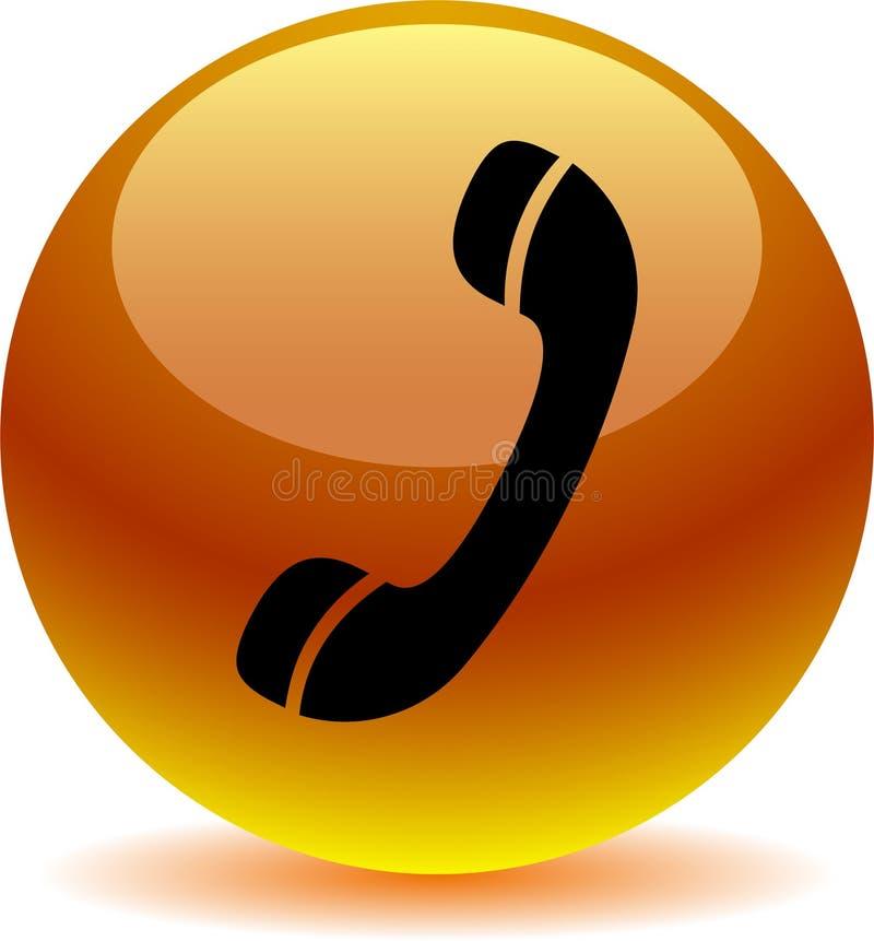 Chame-nos laranja do ícone da Web do botão ilustração royalty free