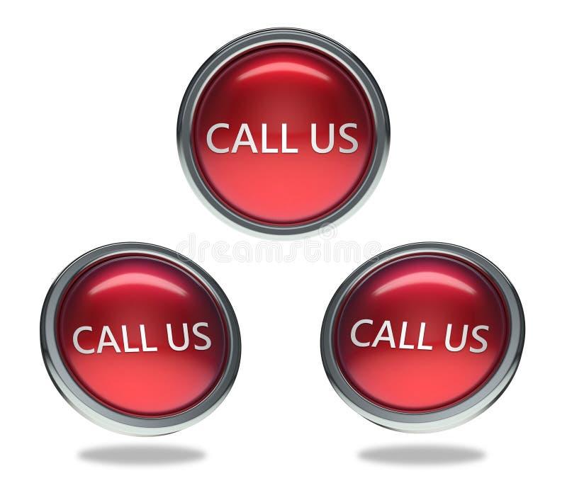 Chame-nos o botão de vidro ilustração royalty free