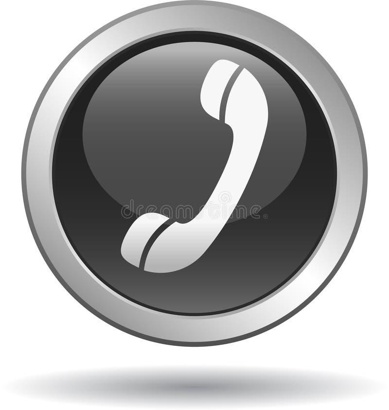 Chame-nos preto do ícone da Web do botão ilustração do vetor