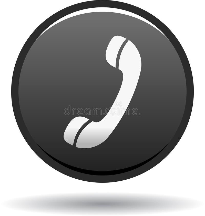 Chame-nos preto do ícone da Web do botão ilustração royalty free