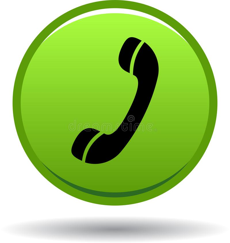 Chame-nos verde do ícone da Web do botão ilustração royalty free