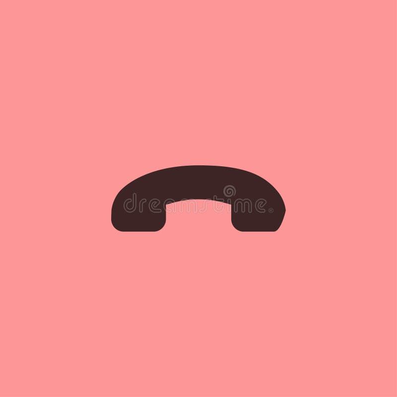 Chame o telefone do projeto do preto do botão do ícone imagens de stock royalty free