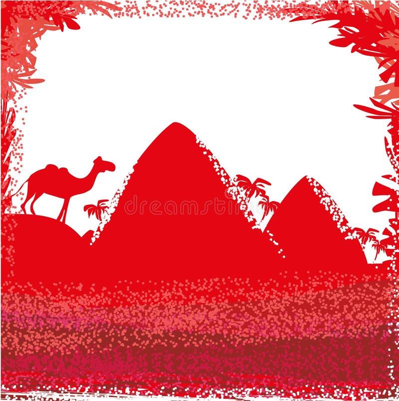 Chameau en Afrique sauvage illustration libre de droits