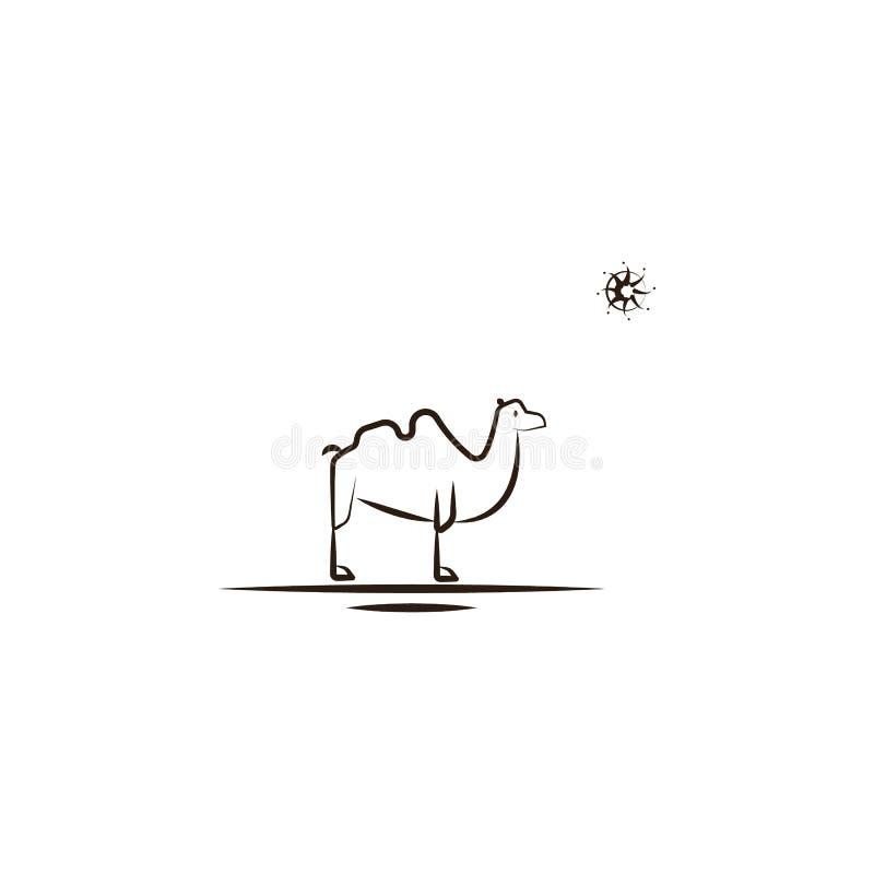 chameau, icône de désert Élément d'icône de désert pour les apps mobiles de concept et de Web Remettez le chameau d'aspiration, l illustration stock
