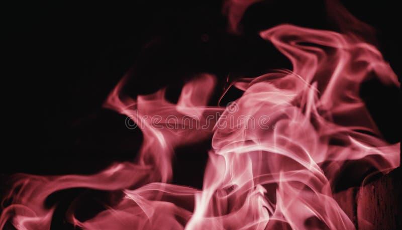 Chamejam o fundo da chama do fogo e textured, cor-de-rosa e pretos imagem de stock