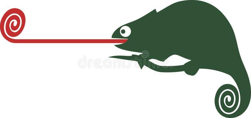 Chameleon. Cute green chameleon, perfect for logos vector illustration