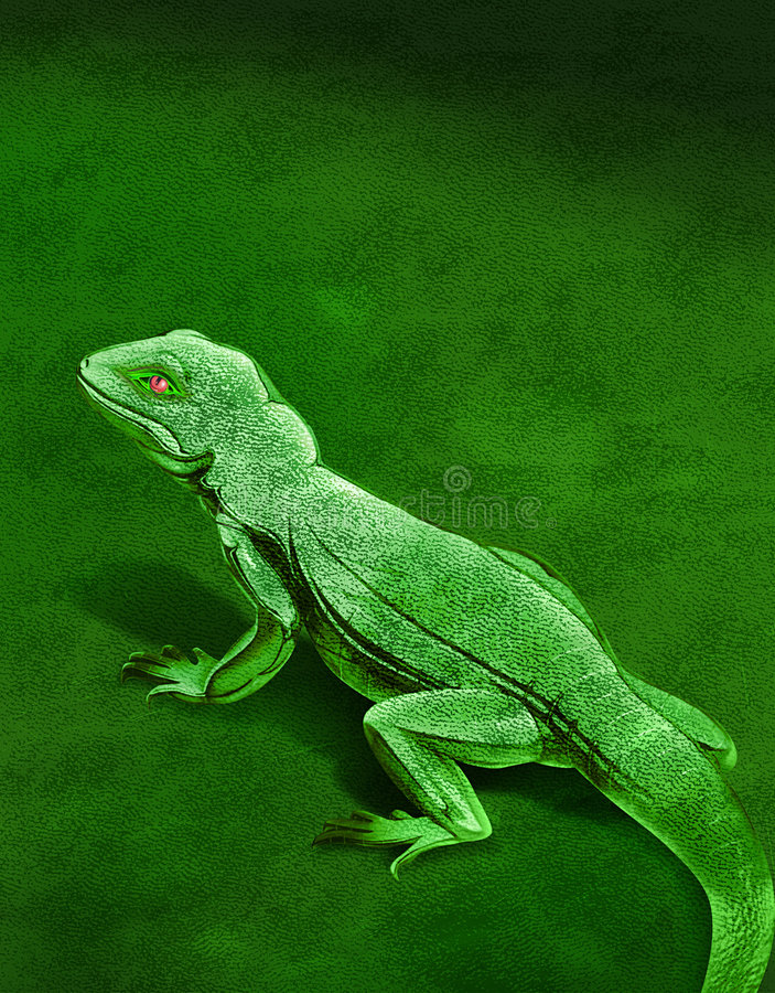 Download Chameleon stock illustration. Image of hide, abstract, leather - 22263