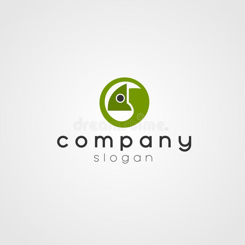 Chameleon Business Company Logo. Chameleon Company Logo Green for your company vector illustration
