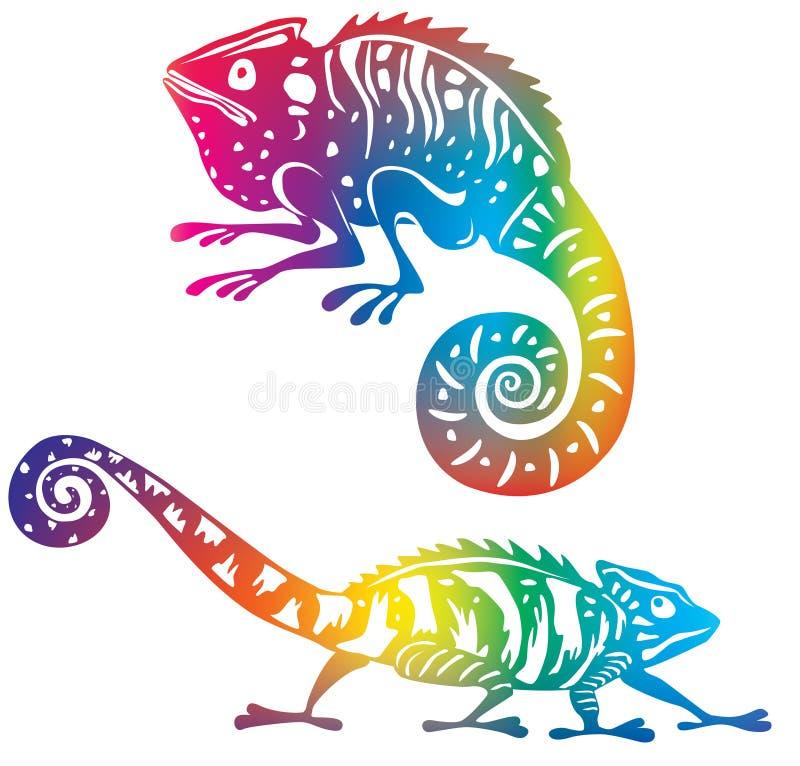 Chameleon Colorato Fotografia Stock Libera da Diritti