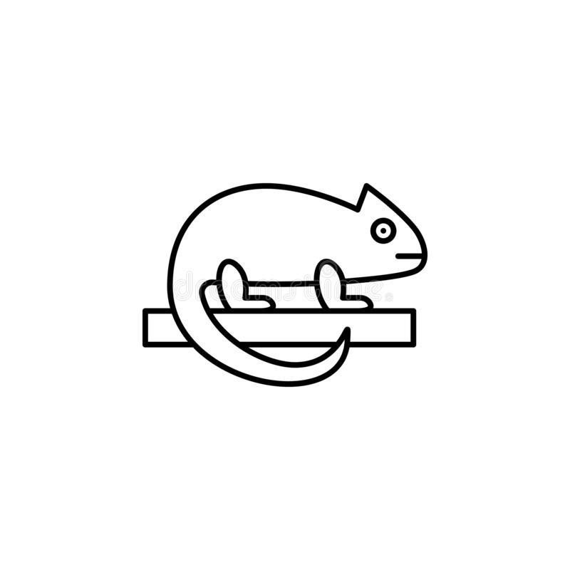 chameleon icon. Simple thin line, outline  of Petshop icons for UI and UX, website or mobile application royalty free illustration
