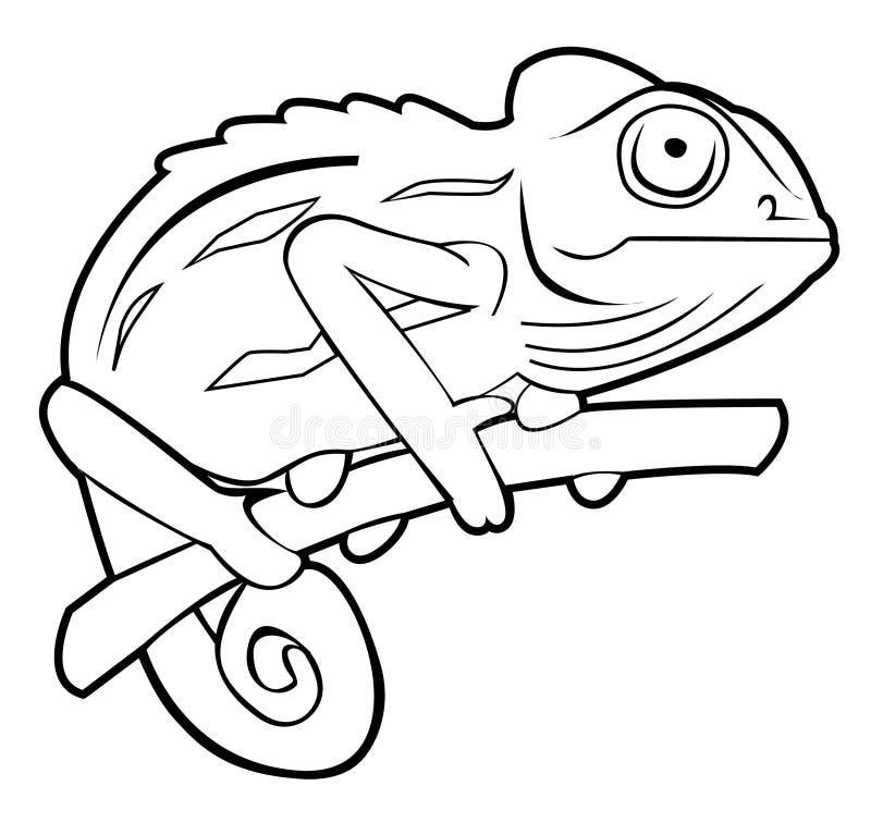 Chameleon. Illustrator desain .eps 10 stock illustration