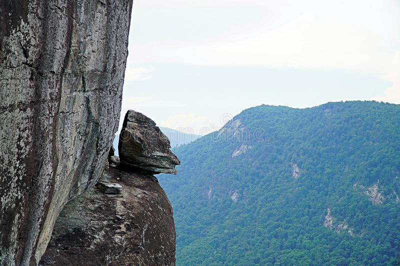 The Chameleon Rock on Top of the Mother Rock. stock photos