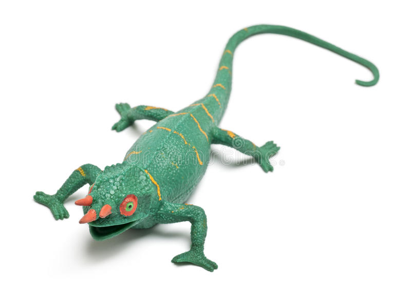 Download Chameleon Toy In Front Of White Background Stock Image - Image: 22515969