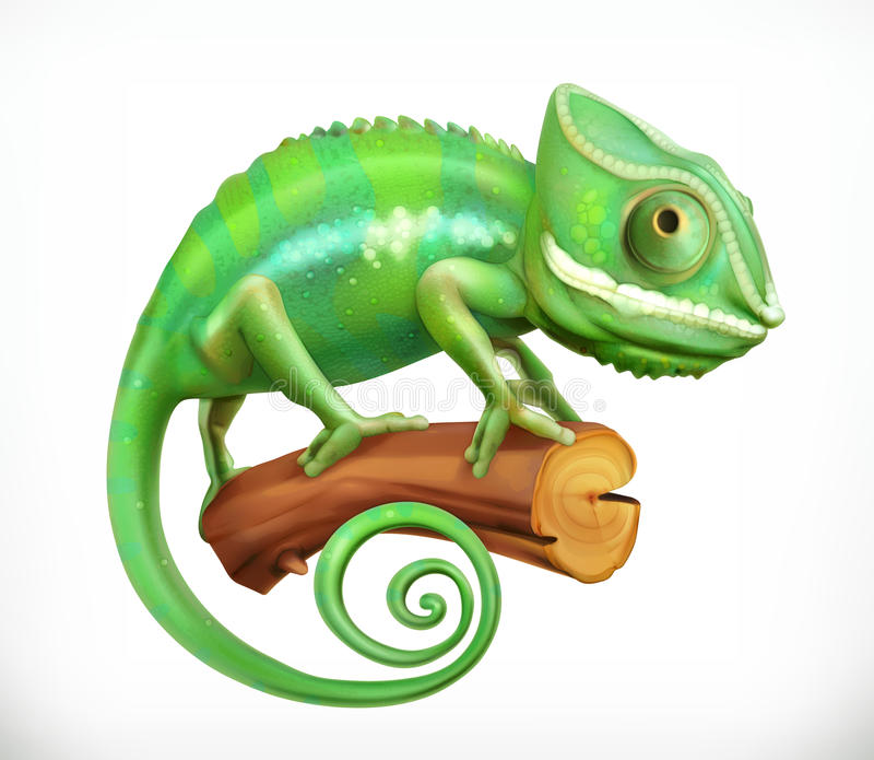 chameleon vettore 3d illustrazione di stock