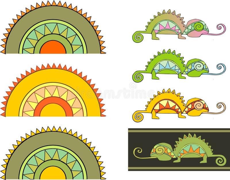 Chameleon2 ilustração do vetor