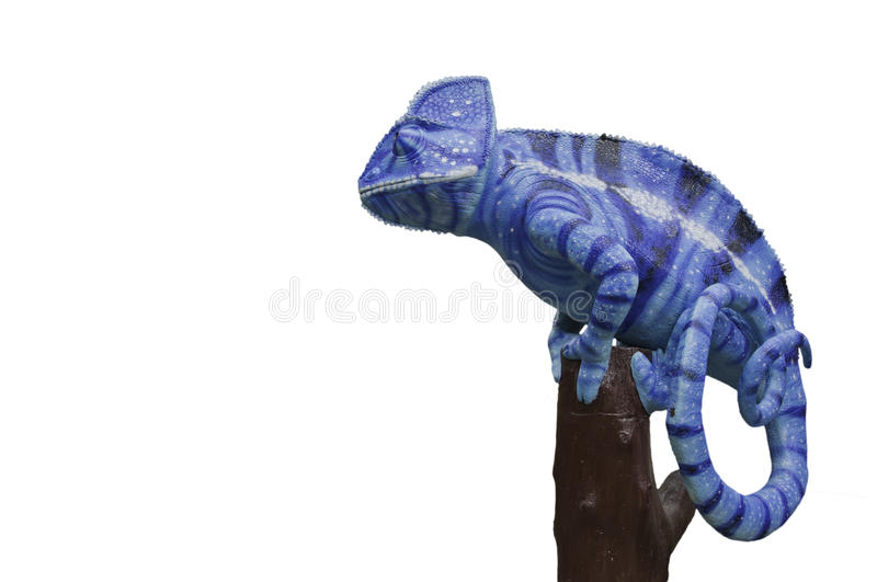 Chameleons statue. In color full action royalty free stock photo