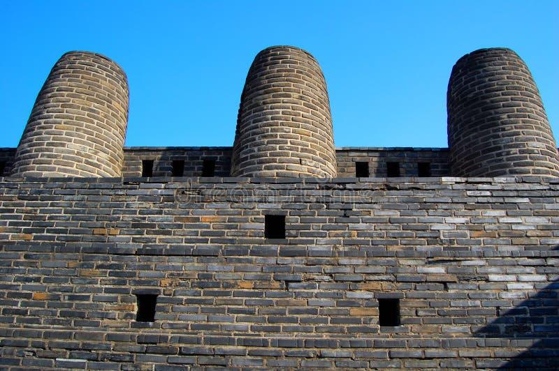 Chaminé 3 na fortaleza de Hwaseong, Suwon, foto de stock