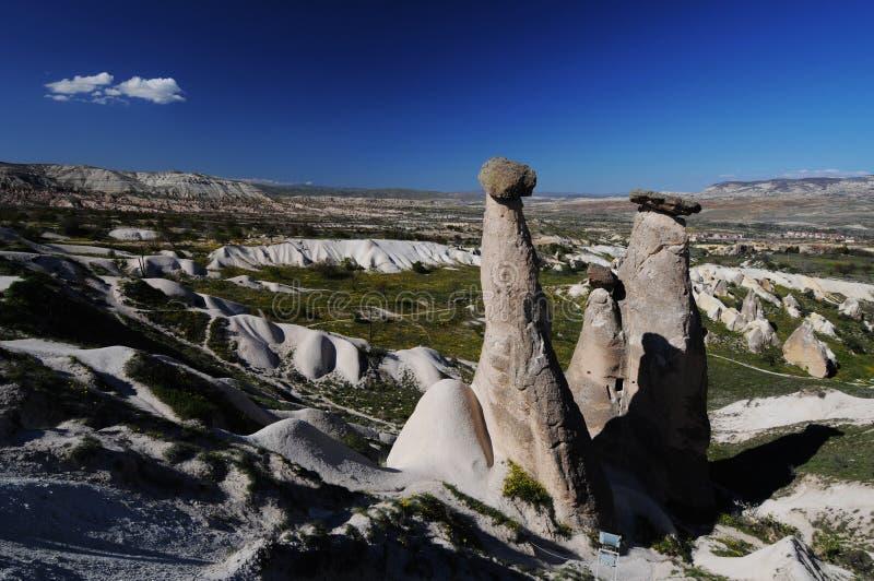 Chaminé feericamente em Cappadocia fotos de stock royalty free