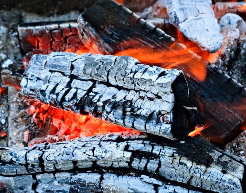 Chamin? de queimadura da fogueira da lenha imagens de stock royalty free