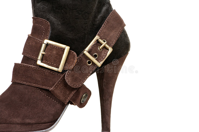 Chamois female boot royalty free stock images