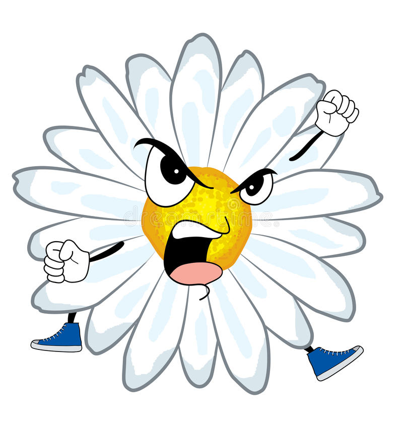 chamomile κινούμενα σχέδιαα λουλουδιών ελεύθερη απεικόνιση δικαιώματος