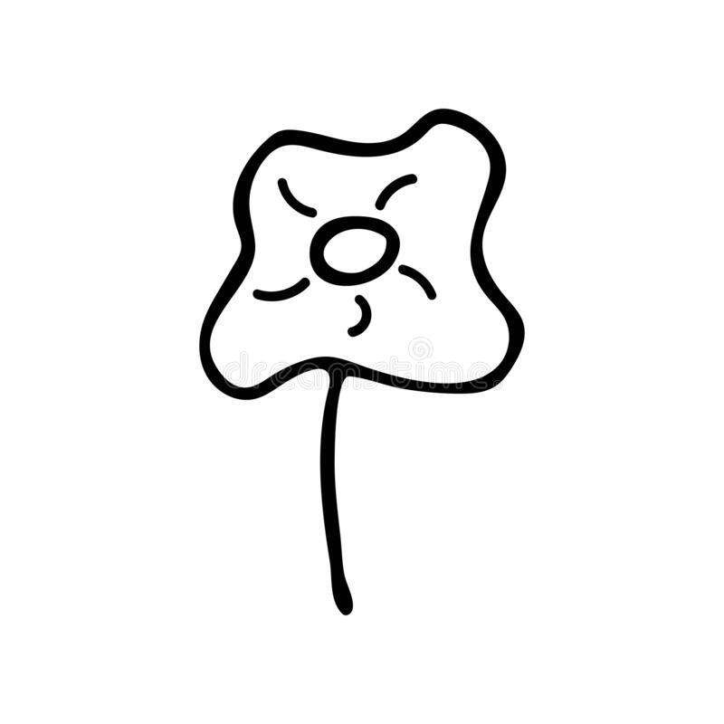 Chamomile black and white illustration in doodle style 4 vector illustratie