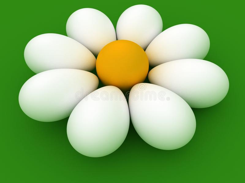 chamomile Easter jajko ilustracja wektor