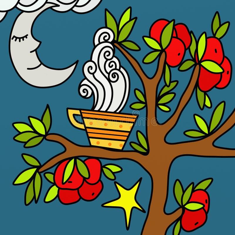 Download Chamomile to moon stock illustration. Image of season - 25388837